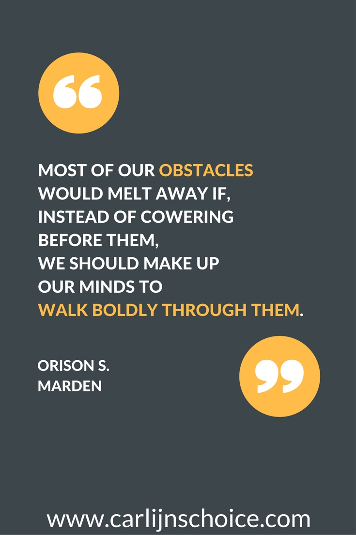 quote obstacles keep me motivated | www.carlijnschoice.com