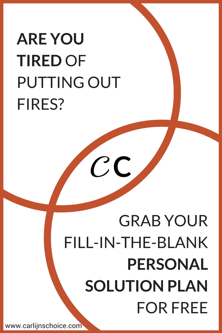 Stop feeling tired all the time and write your Personal Solution Plan in your Choices Journal for instant answers!#carlijnschoice #choicesjournal #personalsolutionplan